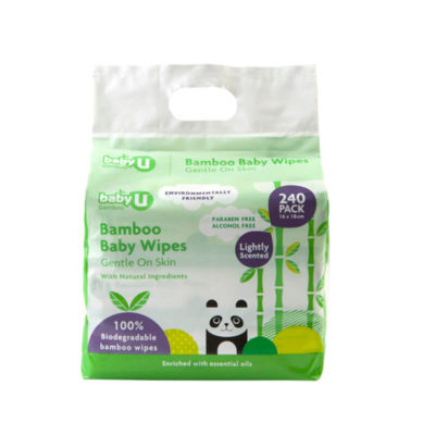 Baby U Bamboo Wipes 240pk_HR